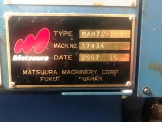 Frezarka Matsuura MAM 72 25V, Rok prod.  2007-4
